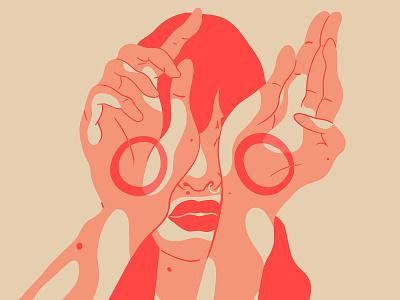 Imperfection makes perfection✨ portrait illustration imperfection vitiligo red eyes hands characterdesign