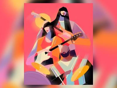 Khruangbin 💙 psychedelia dj markspeer lauralee band fanart music khruangbin characterdesign illustration