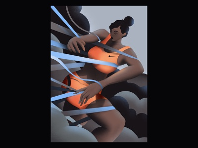 I would like to do a job for Nike one day. women nike ropes sports running illustration