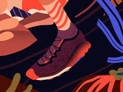 Courtney Dauwalter moab colorado trail trailrunning marathon ultra ultrarunning running illustration