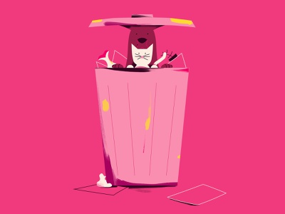Scan for Change - Animal welfare play fish apple trashcan dog cat animals illustration