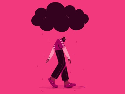 Mental health sun cloud mentalhealth character design characterdesign illustration