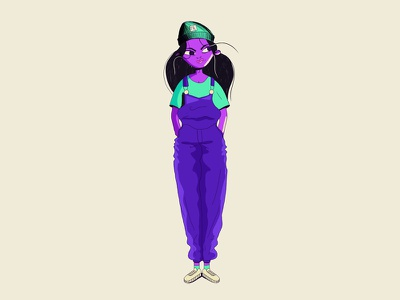 Casual girl girl casual illustration design character