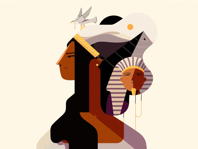 Egypt horus pharaoh majesty egypt design characterdesign illustration