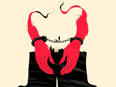 Justice justice handcuffed hands illustration crime