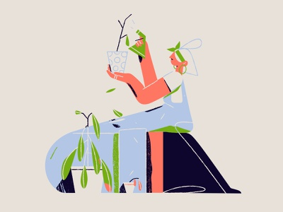 Actual footage of my girlfriend taking care of the plants plants death girlfriend illustration characterdesign