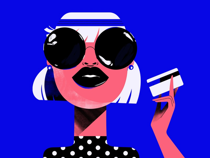 Another Dry Martini please fashion martini dry creditcard illustration characterdesign sunglasses lady