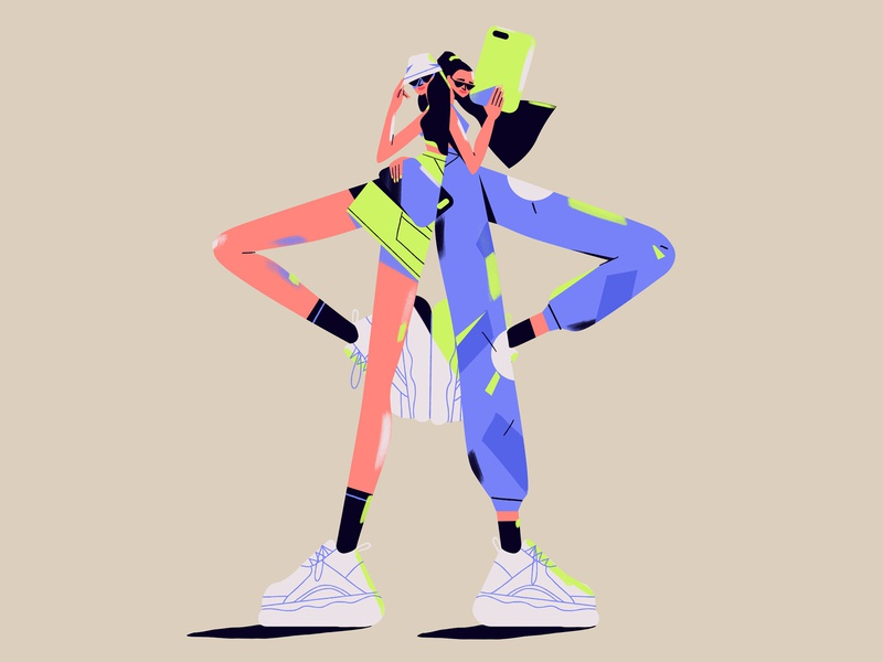 Buffalo chicks 💥 ig fashion influencers characterdesign illustration