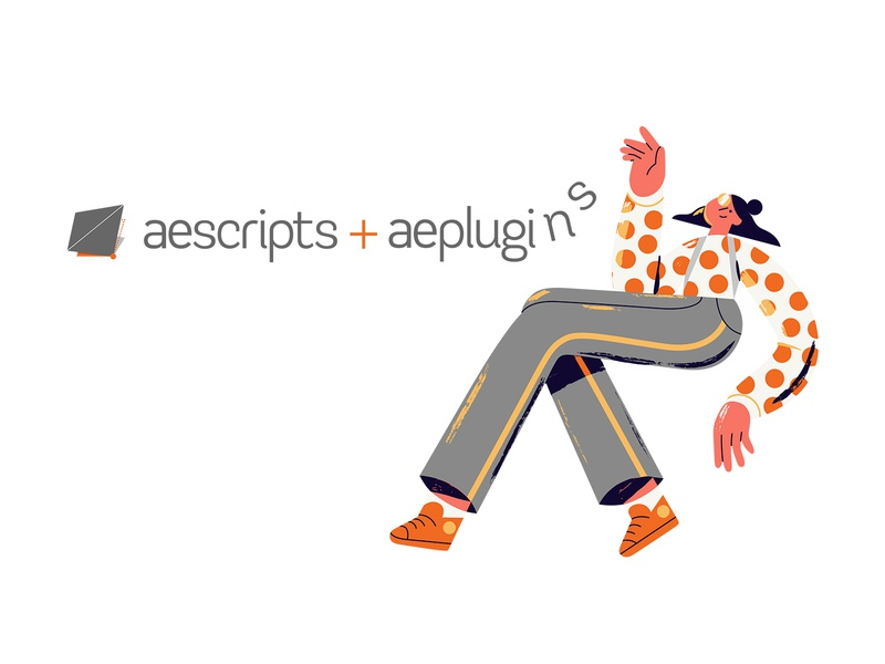 Aescipts + Aeplugins header website stickers charactdesign illustration
