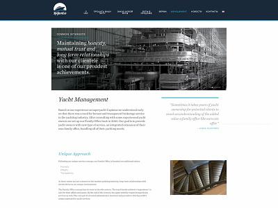 Top Yacht magazine vector logo web design cms development
