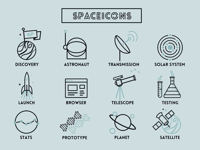 Space & Science Line Icons