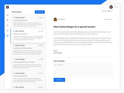 Vue.js App message ui webapp vue