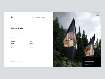 Metaphors - Menu web ui html halfs apercu minimal menu