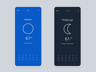 wthr - minimal weather app circadian simple minimal weather mobile app