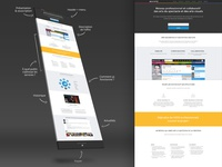 Onepage 3D Mockup responsive webdesign web suscribe login sign in onepage 3d mockup one page