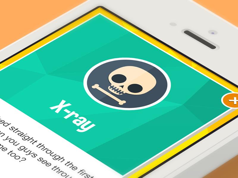 Xray Badge badge flat xray skull skeleton iphone 5c 5s reward game app