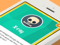 Xray Badge badge flat xray skull skeleton iphone 5c 5s reward game app