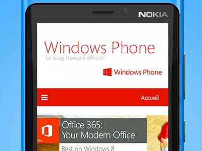 Windows Phone Blog ui app ux web minimal windows phone windows phone icon theme metro nokia lumia menu mobile interaction blog logo