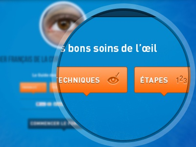 Interactive terminal - Eye surgery eye surgery terminal interactive picto pictos pictogram pictograms icon icons laser button buttons magnify ui ux