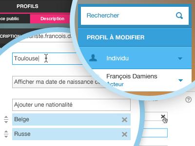 Modification form - dashboard