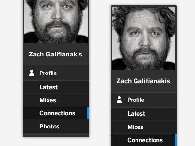 MySpace Menu dark gui ui menu actor movie new myspace profile zach galifianakis