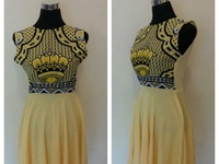 2018 yellow swazi dress