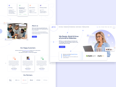 Gloross - Company Website Redesign web design minimal clean cl ui