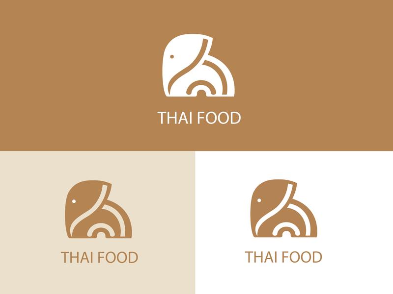 elepnant logo elephant logo elephant thai food branding logos logo logodesign