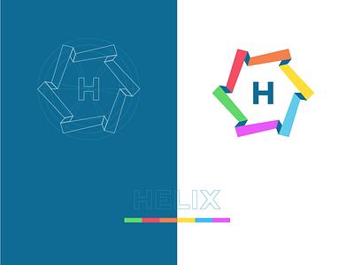 Design System logo concept concept h helix logo