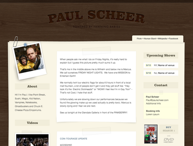 Tumblr Theme for Paul Scheer