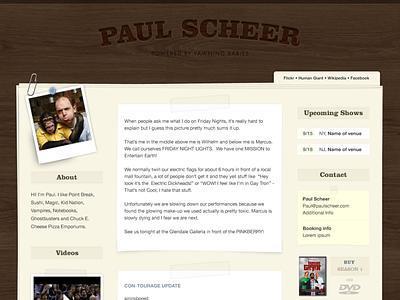 Tumblr Theme for Paul Scheer tumblog screendesign design tumblr theme