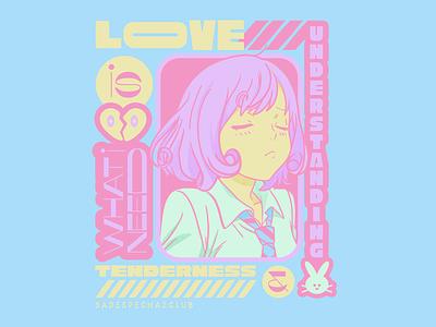 What I need is... lovecard waifu lovely manga anime bunny needs tenderness understanding love
