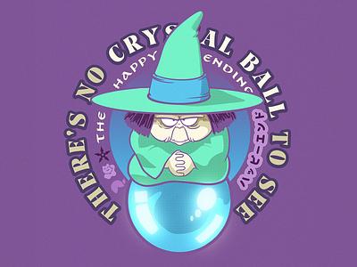 Crystal Ball type procreate crystal ball crystal fanart design illustration logo manga anime dbz baba uranai
