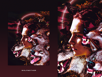 Wolfmother collage surrealism wolfmother nature crows surreal wolfs