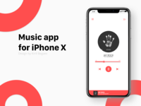 Music app for iPhone X