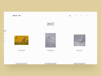 Gallery page — Andy H. Wei website webdesign web ux ui typography portfolio painting painter gallery design artist art direction art