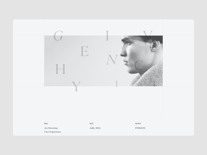 Project Page — Alexandre Rochet Portfolio 2016 project page composition typography typeface portfolio letters website layout web design web ux design ux ui design ui layout interface design interface graphic design design art direction