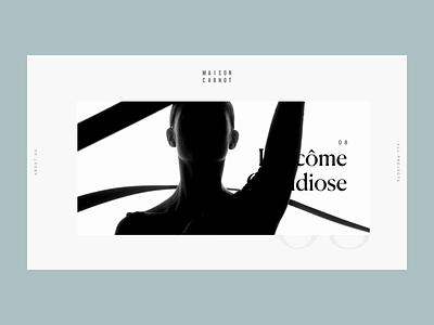 Project page - Maison Carnot production house communication agency case study project page typography portfolio website layout web design web ux design ux ui design ui layout interface design interface graphic design design art direction animation