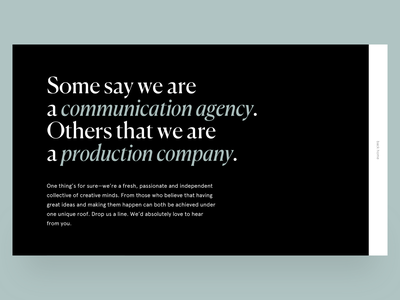About Page - Maison Carnot production house communication agency about page typography portfolio website layout web design web ux design ux ui design ui layout graphic design design art direction