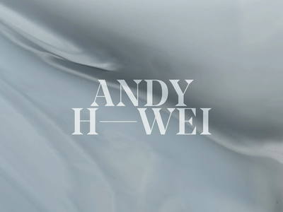 Andy H Wei Identity type typography painting painter artist portfolio letters letter identity logotype logo business cards branding design branding brand identity brand