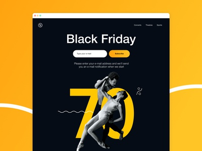 Lead generation landing page (Black Friday)