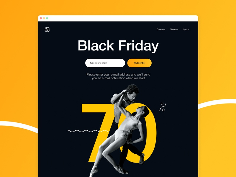 Lead generation landing page (Black Friday) advertising sale black friday lead generation landing landing page ux web illustration design branding ui