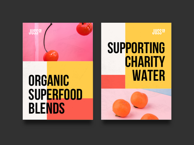 Juss Co - Posters brand guidelines identity design poster photography logo identity design studio branding brand