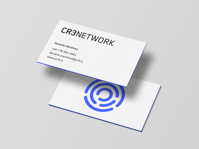 CR3 Network - Business Cards mark guidelines identity design brand guidelines logo branding print design studio fintech finance crypto cryptocurrency identity cards brand business cards