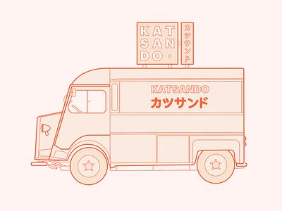 Katsando - Truck studio identity branding food trucks logo brand design truck food food truck