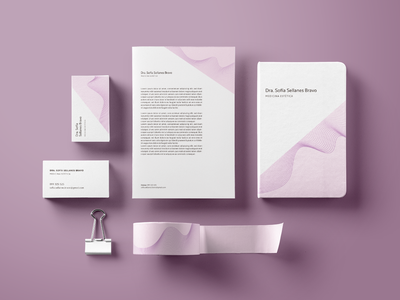 Branding for a Cosmetology Facility health cosmetology graphicdesign design vector illustration stationary stationary design branding