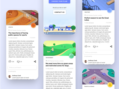Make it Right - An app to help the community social app social network ui  ux app design charity neighbourhood community post vector illustrator illustration app design