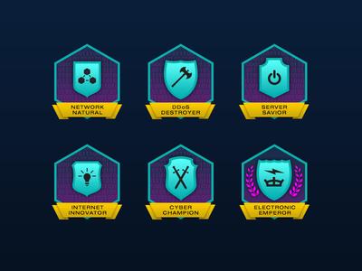Cyber Lab Achievement Badges