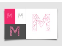 Geometric Typography 'M'