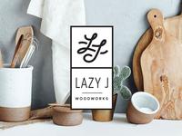 Lazy J Woodworks Logo & Identity